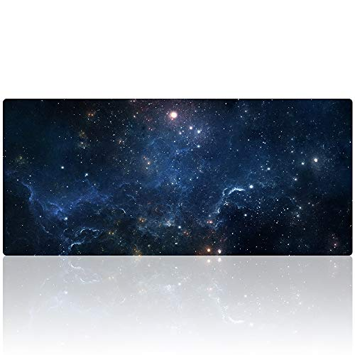 Gaming Mouse Pad Extended Large Desk Mat 35.4x15.7 Inch Non-Slip Mouse Mat (90x40 Sky008)