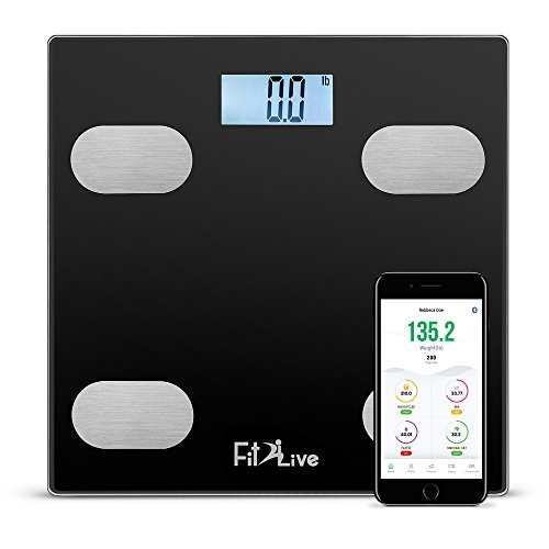 Why Should You Buy Bluetooth Smart Body Fat Scale- Fit2Live Digital Bathroom Weight Scale, Body Comp...