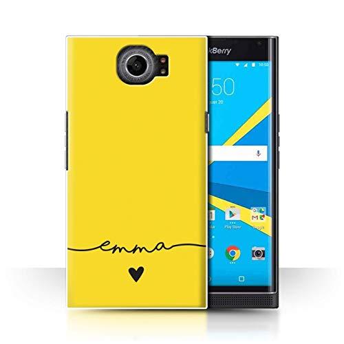 Stuff4® Personalisiert Individuell Farbe Palette Hülle für BlackBerry Priv/Gold Gelb Design/Initiale/Name/Text Schutzhülle/Case/Etui