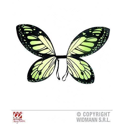 Lively Moments Ailes de Papillon / Ailes / Ailes de Fées / Costume Accessoire Aile pour Enfants Vert-Jaune / Fée ou Costume D' Elfe Accessoires