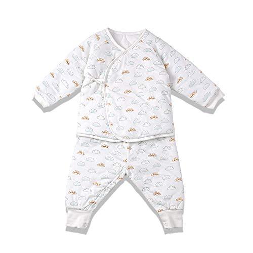 i-baby i-baby Neugeborene Zweiteiliger Schlafanzug 4.5 Tog Winter Kinder Pyjama Verdicken Babyspielanzug Outfit Baumwolle Jungen Mädchen Unisex Langarm Overall 0-6 Monate Verpackt in schöner Box (0-3 Monate)