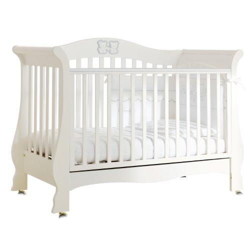 Pali Kinderbett Tiffany (für Matratze Größe 64x124cm) Prestige Weiß