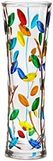 Murano Glass Tree of Life Vase (Small), Hand Painted In Italy