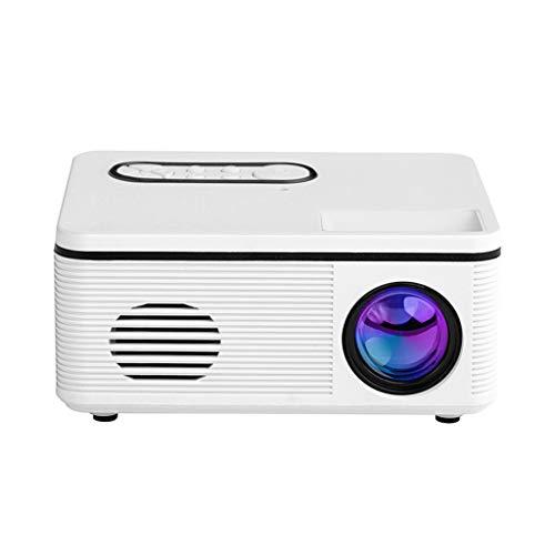 Beamer Projektor Elektrisch LED-Projektor H88 Projektor Tragbarer Heimprojektor H88 Mini Heimkino-Projektor Weiß LED 3D 1080P Unterstützung Haut-Parleur TF HDMI USB Mini Media Player