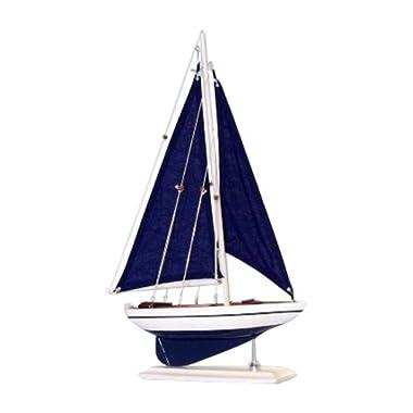 Hampton Nautical Pacific Sailer Sails Boat, 17 , Blue