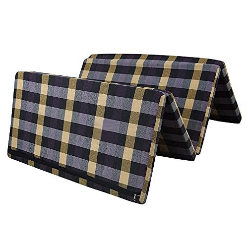 Padam Shree 2 Inch Dual Comfort Reversible Foldable EPE Foam Single 4 Fold Bed Mattress (72 x 35 x 2 Inch)