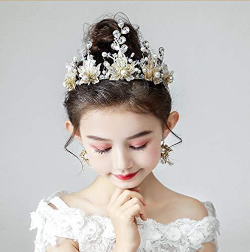 Kinderen Kroon Hoofdtooi Prinses Meisje Kroon Kristal Hoofdband Kind Gouden Stage Prestaties Koreaanse Catwalk Haaraccessoires