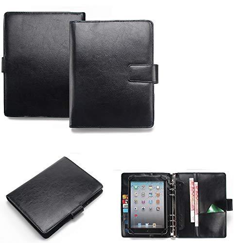 K-S-Trade Organizer Und Tablet-Hülle-Kombination Kompatibel Mit Kiano Slimtab 8 MS Mit Ringbucheinlage Schwarz. Kunstleder Qualitätsware (1x)