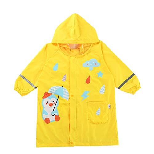 Imperméable GCX for Enfants for bébé for bébé Cartoon garçon Fille Étudiant Poncho La Mode (Color : Yellow, Size : L)