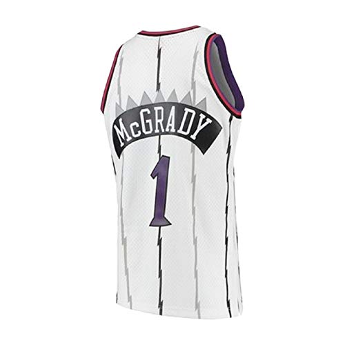 Mens Tracy Jersey Retro Basketball 1 Jerseys McGrady Jersey White(S-XXL) (XL)
