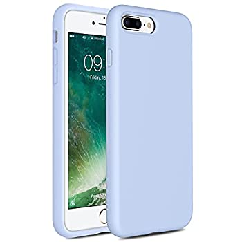 Miracase iPhone 8 Plus Silicone Case iPhone 7 Plus Silicone Case Gel Rubber Full Body Protection Shockproof Cover Case Drop Protection for Apple iPhone 7 Plus/iPhone 8 Plus 5.5  -Clove Purple