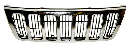 Sherman Replacement Part Compatible with Jeep Cherokee Wagoneer Grille Assembly (Partslink Number CH1200234)