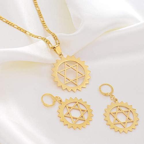 Star Of David Jewelry Sets Pendant Necklaces Earrings Guam Hawaii Marshall Micronesia Hexagram Jewellery Habesha