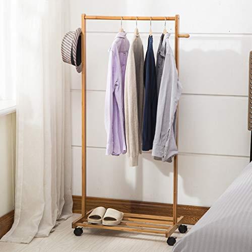 POETRY Move Coat Rack Lange staaf Hangende Hanger slaapkamer woonkamer bamboe kasten (lengte 60 70 80 cm) (grootte: 80 cm)