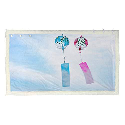 Beau vent cloche carillon couvertures de jet d'hiver chauds couverture pour adolescents 53x30 pouces avec 3 boutons pour le canapé à l'extérieur couverture de jet de réchauffement couverture portable