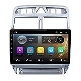 NBVNBV Android 9 Pantalla Táctil Radio de Coche GPS Navegador Sistema Multimedia Ajuste para P-eugeot 307 307CC 307SW 2002-2013 Mapa Cámara Trasera,1g CAM