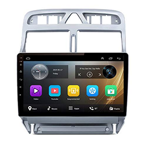 NBVNBV Android 9 Pantalla Táctil Radio de Coche GPS Navegador Sistema Multimedia Ajuste para P-eugeot 307 307CC 307SW 2002-2013 Mapa Cámara Trasera