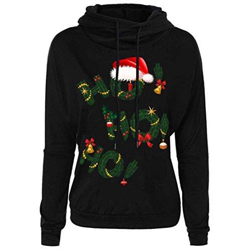 TWIFER Frauen Damen Weihnachtspullover Buchstabe Druck Spitzen Sweatshirt Mantel