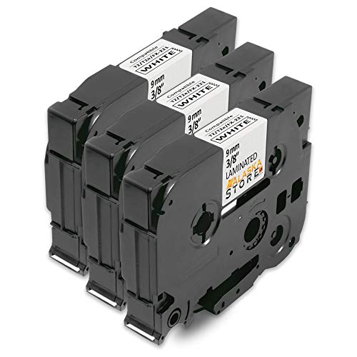 3x Nastro Cassette Etichette Brother TZe-221 TZe221 Nero su Bianco 9mm x 8m Stampanti per Tz Tze Tape Brother PT-E100 PT-1000 PT-1080 PT-2700VP