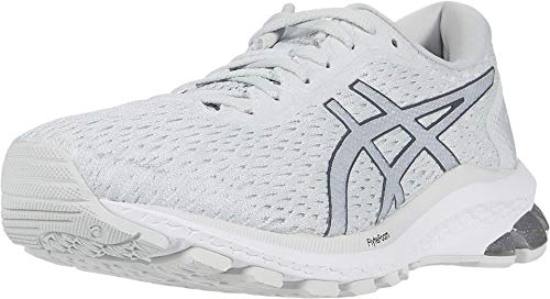 ASICS Women's GT-1000 9 Running Shoes, 8.5M, White/Pure Silver
