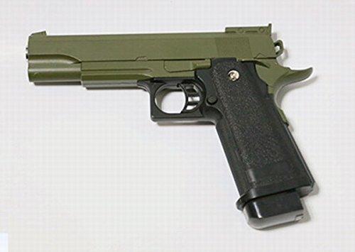 Galaxy - pistola para airsoft tipo Hi-Capa con resorte completamente de metal, color verde, de recarga manual (0,4 julios)