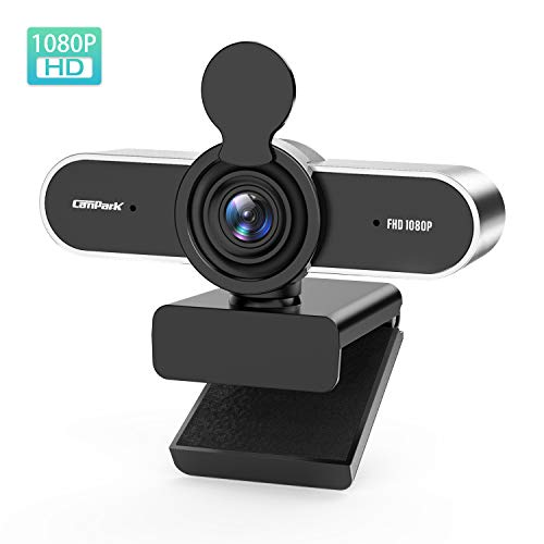 Campark Webcam PC 1080P Full HD con Micrófono Estéreo, USB 2.0 Plug & Play, Ideal para Videollamadas y Videoconferencias con Reducción de Ruido. Compatible con Windows, Mac y Android