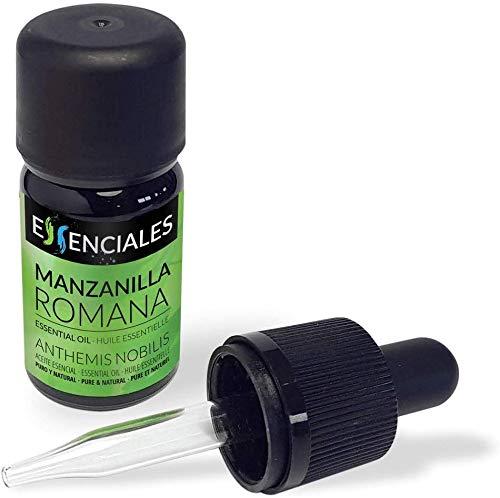 Essenciales - Aceite Esencial de Manzanilla Romana o Común, 100% Puro, 5 ml   Aceite Esencial Chamaemelum Nobile