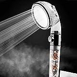 Sistema de ducha Cabezal iónico Filtro de mano Filtración Cabezal de ducha Ahorro de agua a alta presión con modos de ducha de 3 vías y modo de parada de agua para piel y cabello secos