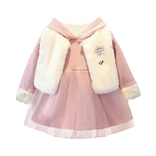 AILIEE Mädchen Kleidung Kinder Langärmelig Winter Gepolstert Warm Weste Kleid...