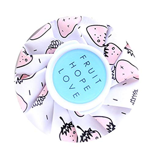 Dicke, explosionsgeschützte, kleine Ice Cool-Kühltasche Reizendes, niedliches Design, eiskalte Taschen zur Schmerzlinderung bei Verletzungen (Pink Strawberry)