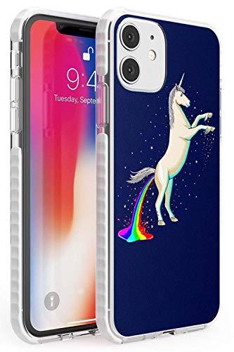 Case Warehouse Einhorn Poop-Regenbogen Impact Hülle kompatibel mit iPhone 11 TPU Schutz Light Phone Tasche mit Niedlich Komisch Magische Regenbogen 9Gag