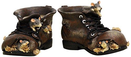 Unbekannt Sunny Toys 12199 Poly Schuh mit Maus 25 cm, 2 Fach Sortiert