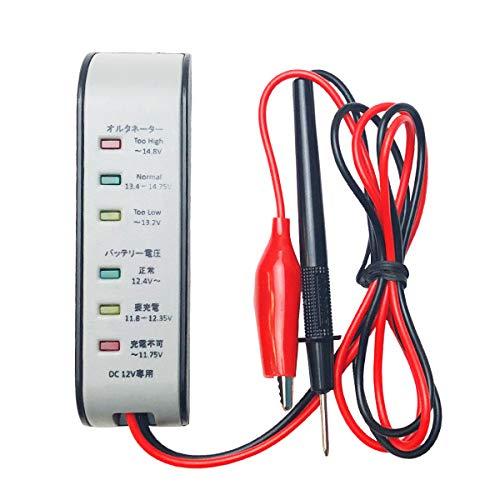 バッテリー電圧テスター(12V用)■【バッテリー、オルタネーター計測付き】 HAKARU