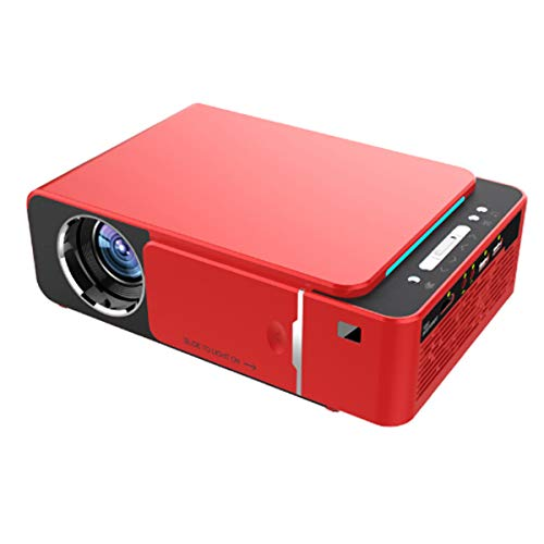 Mini Projector, Draagbare 1080P HD Video Projector Ondersteuning Mobiele Telefoon, HDMI USB Home Theatre-Systeem Met Spreker, LED Pocket Movie Projector Voor Home Media Player,Red