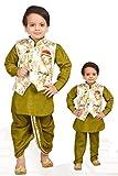 U Know Jeans Modi Jacket with Kurta Pajama with Dhoti for Baby Boys