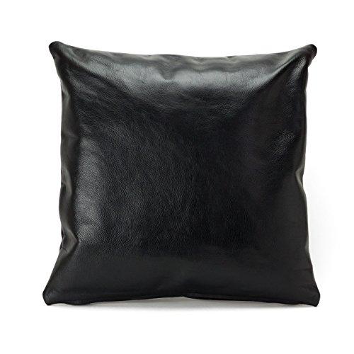 海老名鞄491BLACK【 leather-cushion-cover 】本革レザークッションカバー (ブラック) 巣ごもり テレワーク