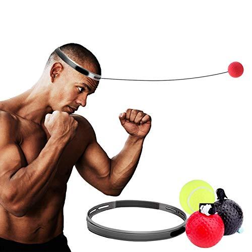 SHFAMHS Boxing Reflex Ball mit Stirnband, Boxsack, Speed Hand Eye Reaction und Koordination Boxausrüstung für Kinder und Erwachsene