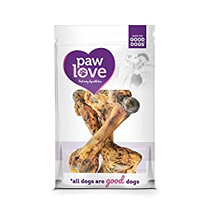 PawLove Dog Treats Hearty and Delicious Pork Femur Bone Chews – 3-Pack – Robust and Flavorful Chew – Rich in Pork Flavor – Single-Ingredient Dog Chew That Helps Healthy Smiles