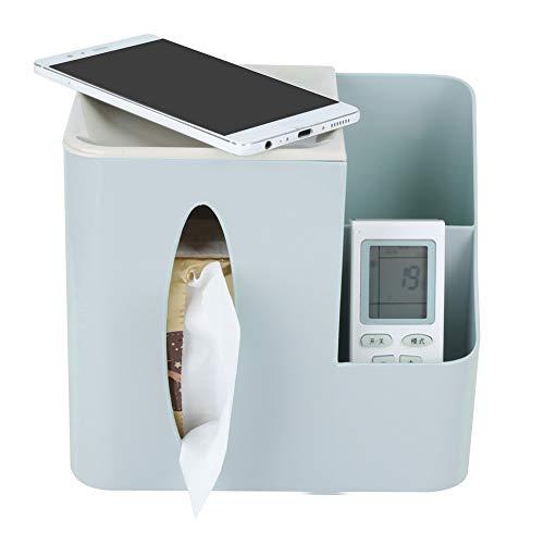 Caja de almacenamiento de pañuelos, PP multifuncional, duradero, resistente, saludable, organizador de escritorio, respetuoso con el medio ambiente para el hogar(blue)