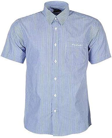 Pierre Cardin Herren Shirt Kurzarm Kariert oder Gedruckt Mit Unterschrift Stickerei