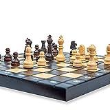Amazinggirl Schachspiel Schach Schachbrett Holz hochwertig - Chess Board Set klappbar mit Schachfiguren groß für Kinder und Erwachsene 26 x 26 cm - 6
