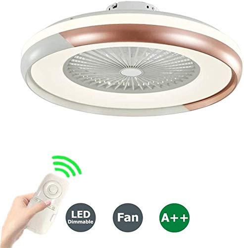LLDS Plafondventilatoren Lampen Plafond Ventilator Met LED Plafond Licht Verstelbare Wind Speed Dimbaar Met Afstandsbediening Moderne Plafond Voor De Tentoonstelling Van Chambr,Brown