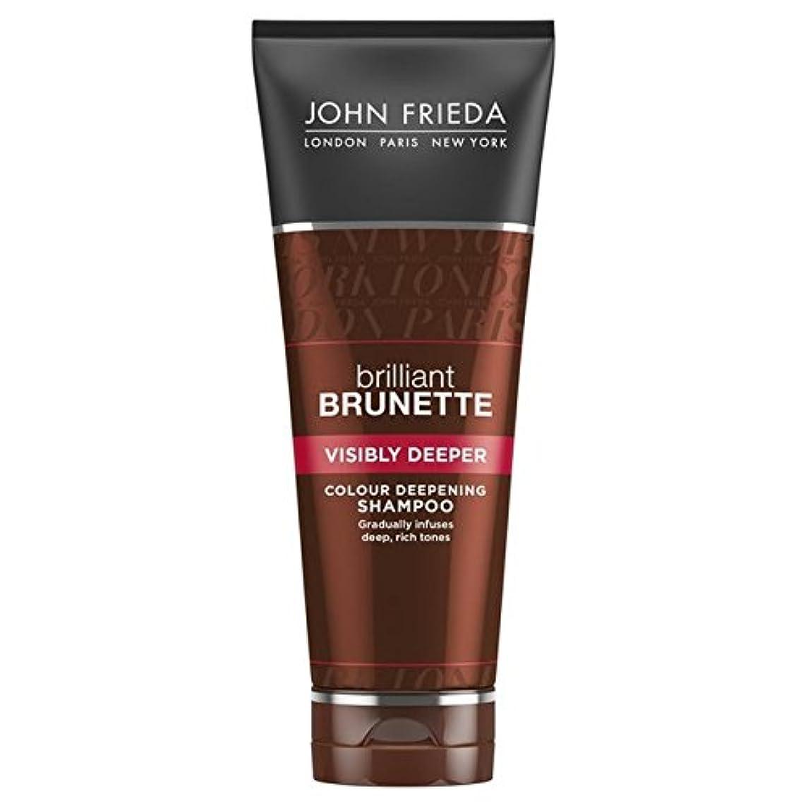 ゲート忠実線形ジョン?フリーダ華麗なブルネット目に見えてより深いシャンプー250 x4 - John Frieda Brilliant Brunette Visibly Deeper Shampoo 250ml (Pack of 4) [並行輸入品]