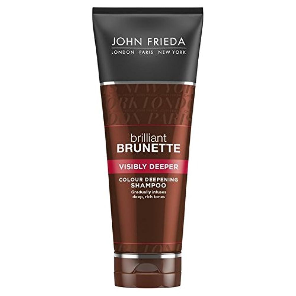 おいしいカリキュラム脚本John Frieda Brilliant Brunette Visibly Deeper Shampoo 250ml - ジョン?フリーダ華麗なブルネット目に見えてより深いシャンプー250 [並行輸入品]