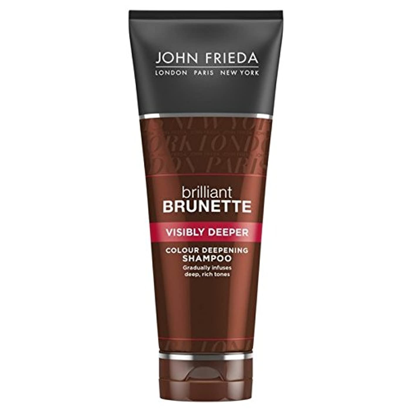間に合わせそれにもかかわらずインポートJohn Frieda Brilliant Brunette Visibly Deeper Shampoo 250ml - ジョン?フリーダ華麗なブルネット目に見えてより深いシャンプー250 [並行輸入品]