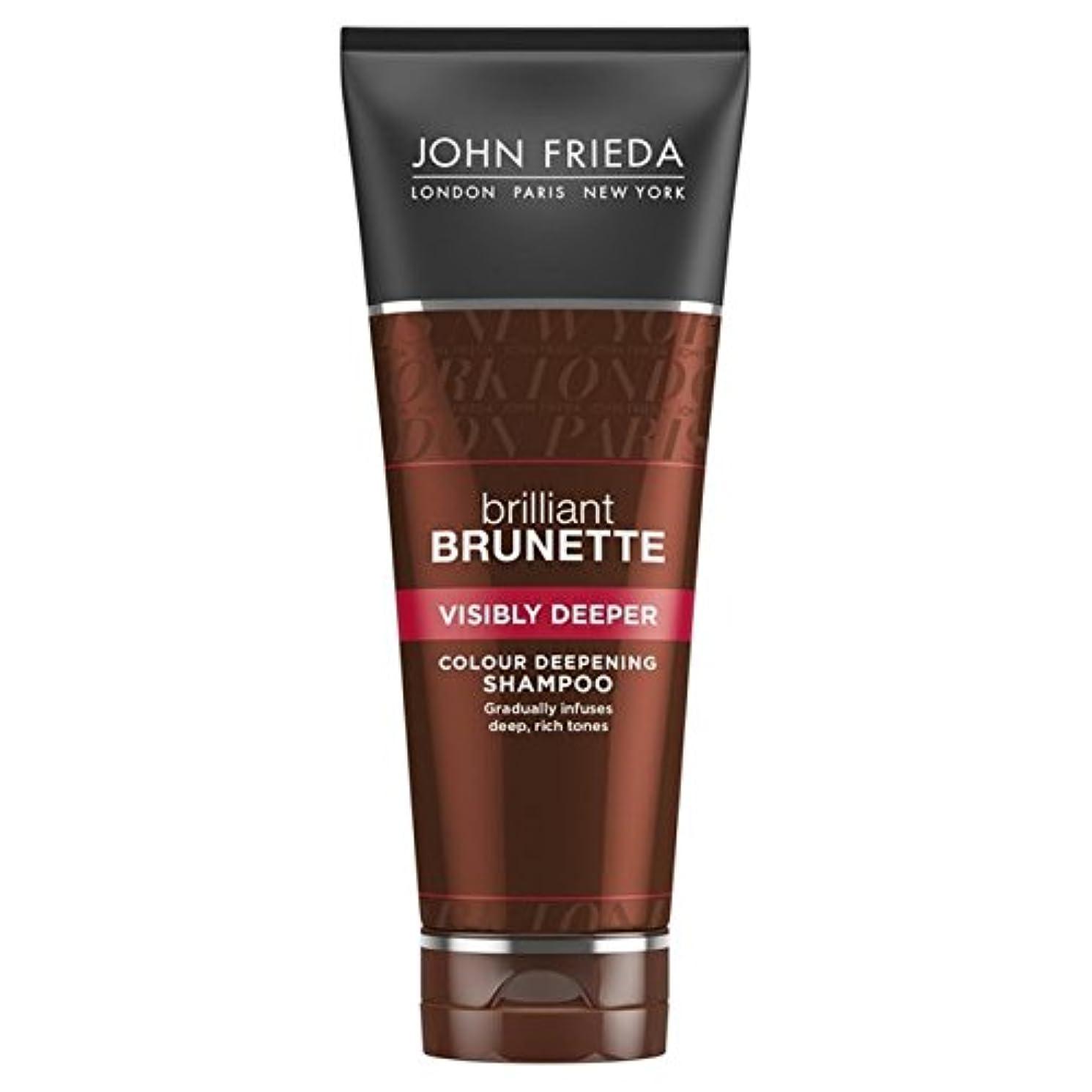 取得する細分化する霜ジョン?フリーダ華麗なブルネット目に見えてより深いシャンプー250 x2 - John Frieda Brilliant Brunette Visibly Deeper Shampoo 250ml (Pack of 2) [並行輸入品]