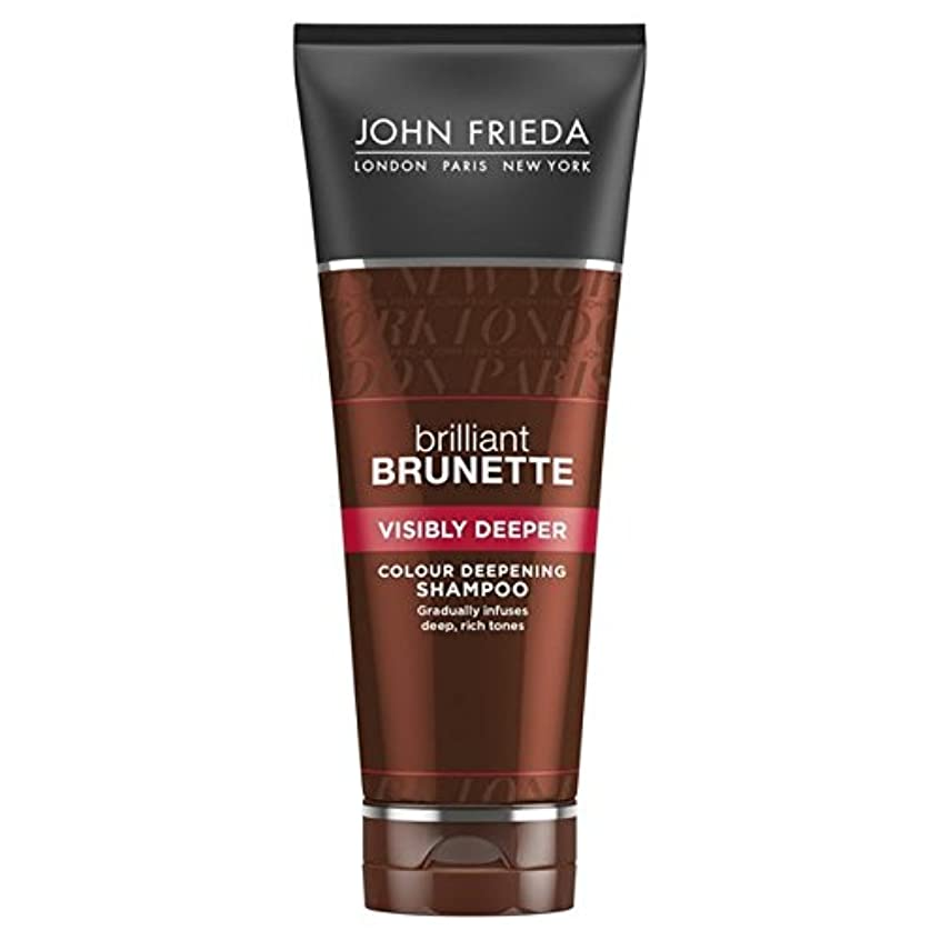 罪スピーチ精神医学ジョン?フリーダ華麗なブルネット目に見えてより深いシャンプー250 x4 - John Frieda Brilliant Brunette Visibly Deeper Shampoo 250ml (Pack of 4) [並行輸入品]