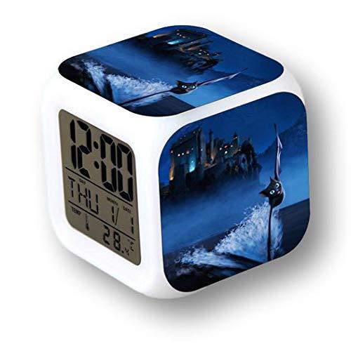 MoodiCare Reloj Digital con Alarma, Temperatura y Efectos de luz. con imágenes...