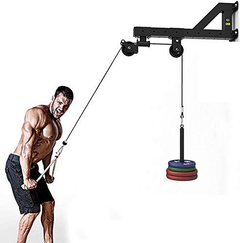 Sistema de polea de peso para tirar y levantar Accesorio de polea para máquina con cable con pasador de carga para tirar hacia abajo LAT, tríceps y abdominales, antebrazo y muñequera en el gimnasio ⭐