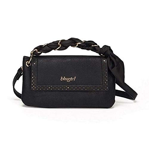 Blugirl - Bolso al hombro para mujer negro 25X16X6cm